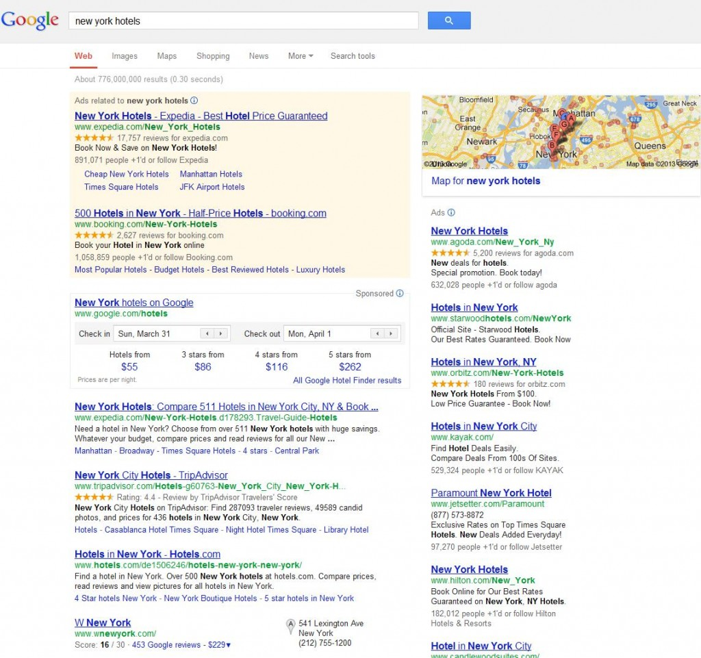 Sample SERP