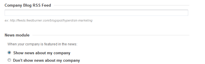 Add RSS feed for company blog on LinkedIn